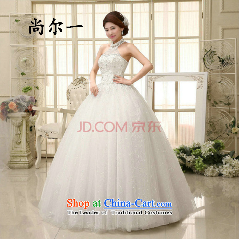 Yet, a wedding dress spring Korean history to align the mounting skirt in bon bon waist straps thin graphics Sau San diamond-history xs1120 White?XL