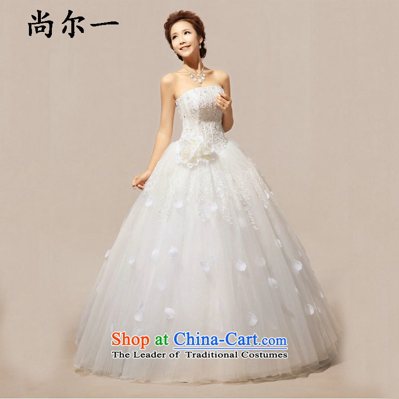 Naoji in the Korean version of the Korean sweet flowers marriages wedding dresses XS5233 m White?XL