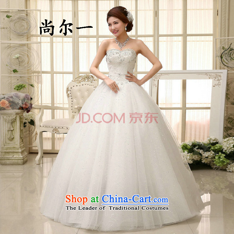 A Korean-style yet sweet bride light white Korean version of V-neck in the marriage for women to align spring wedding dresses 2014 NEW XS0841 White?XXL