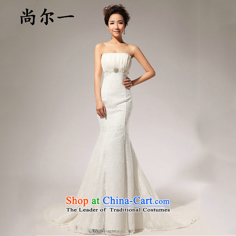 Yet, a new paragraph to align the lace in waist A skirt anointed chest wedding dresses long skirt XS5229 m White�XXL