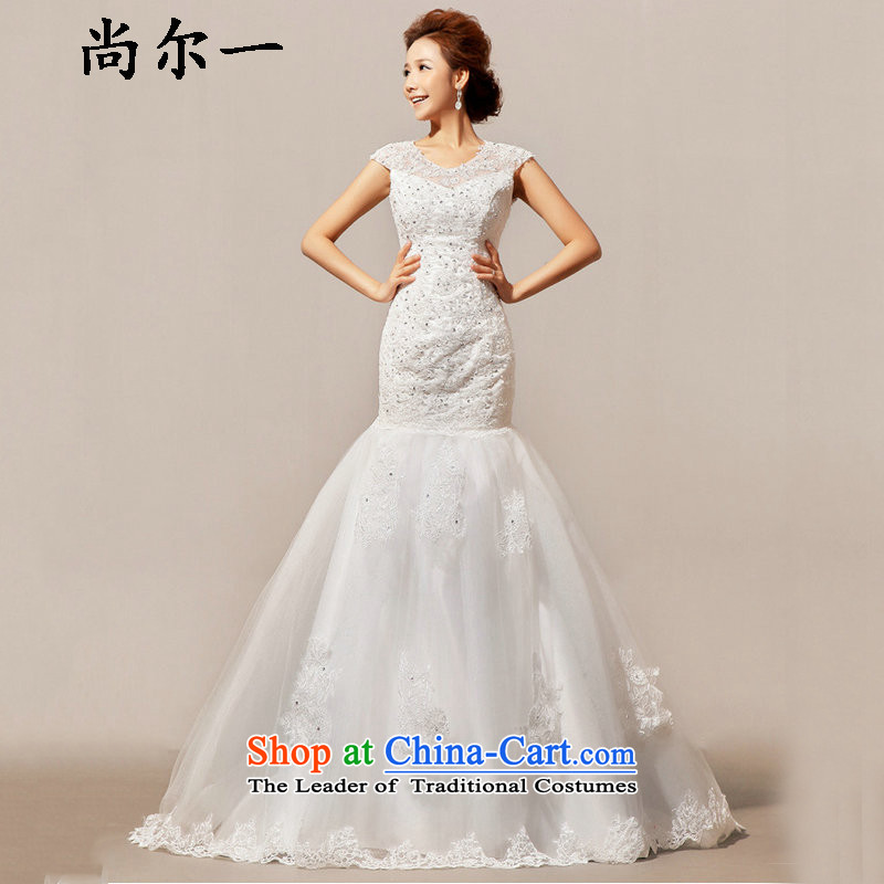 Yet, a new paragraph at the end of the winter wedding drag a field shoulder wedding XS5228 m White?XXL