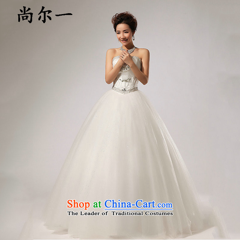 Yet, a chest diamond align to bon bon skirt wedding dresses XS5227 dropped m White聽M