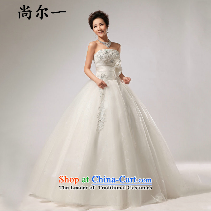 Yet, a chest canopy skirt wedding band bride wedding dresses long skirt XS5224 m White聽M