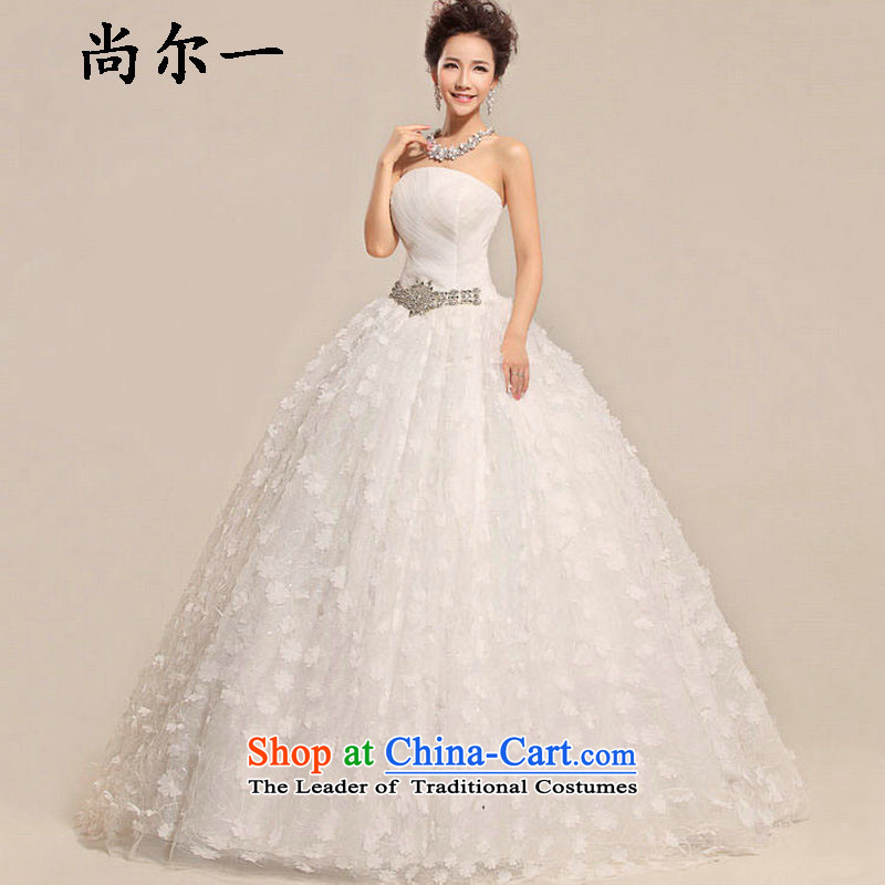 Yet, a simple and classy sweet sexy lace anointed chest Foutune of video thin wedding dresses XS5220 m White�XXL