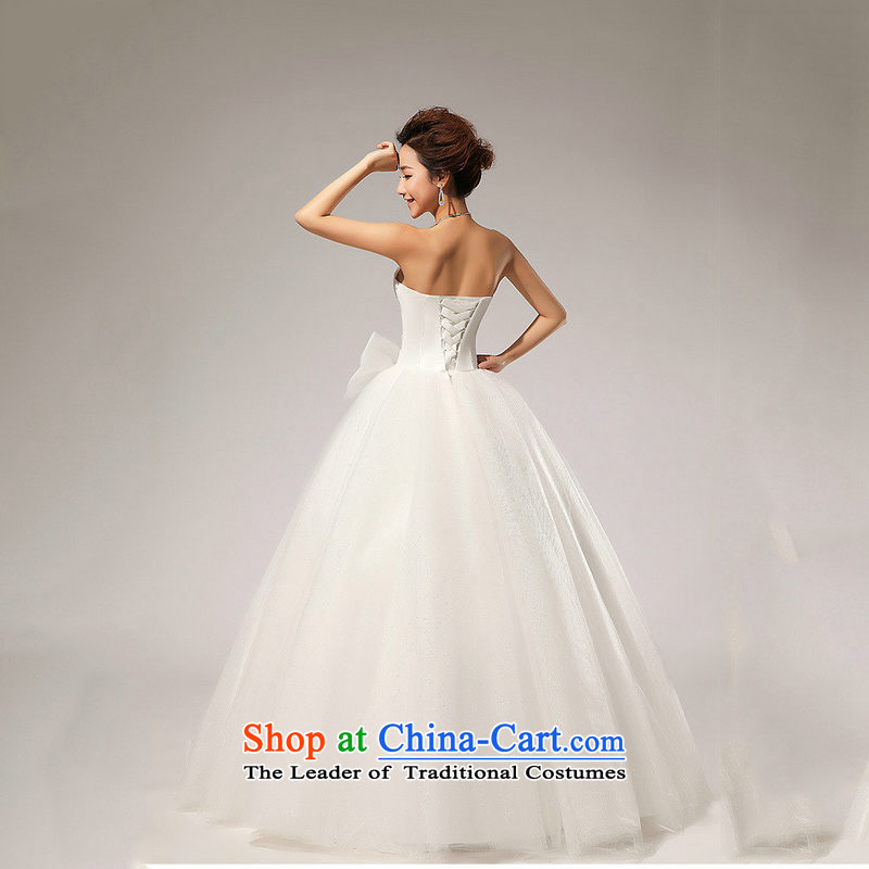 Yet, a new paragraph wedding anointed chest Korean wedding dresses XS5219 m White聽M