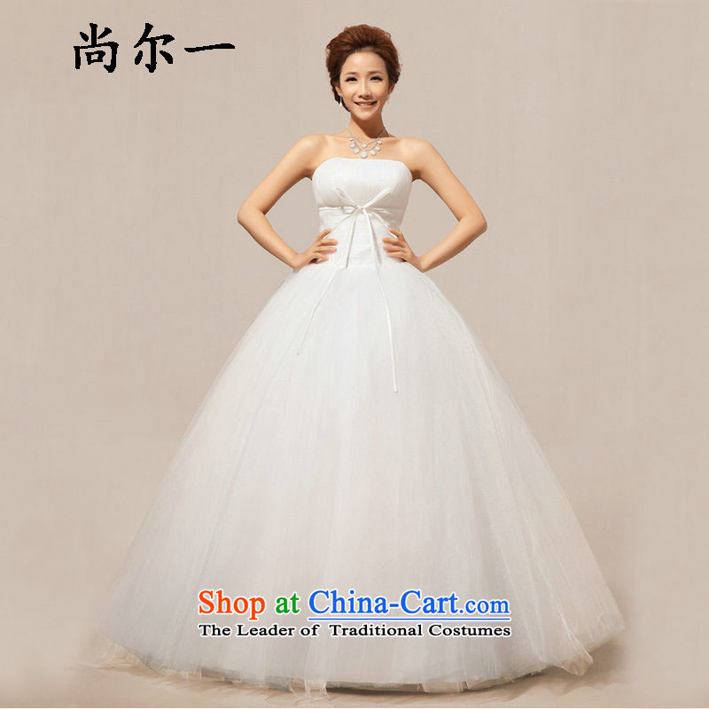 Yet, a wedding dresses new 2014 new Korean lace alignment with chest sweet princess wedding XS5217 m White聽L