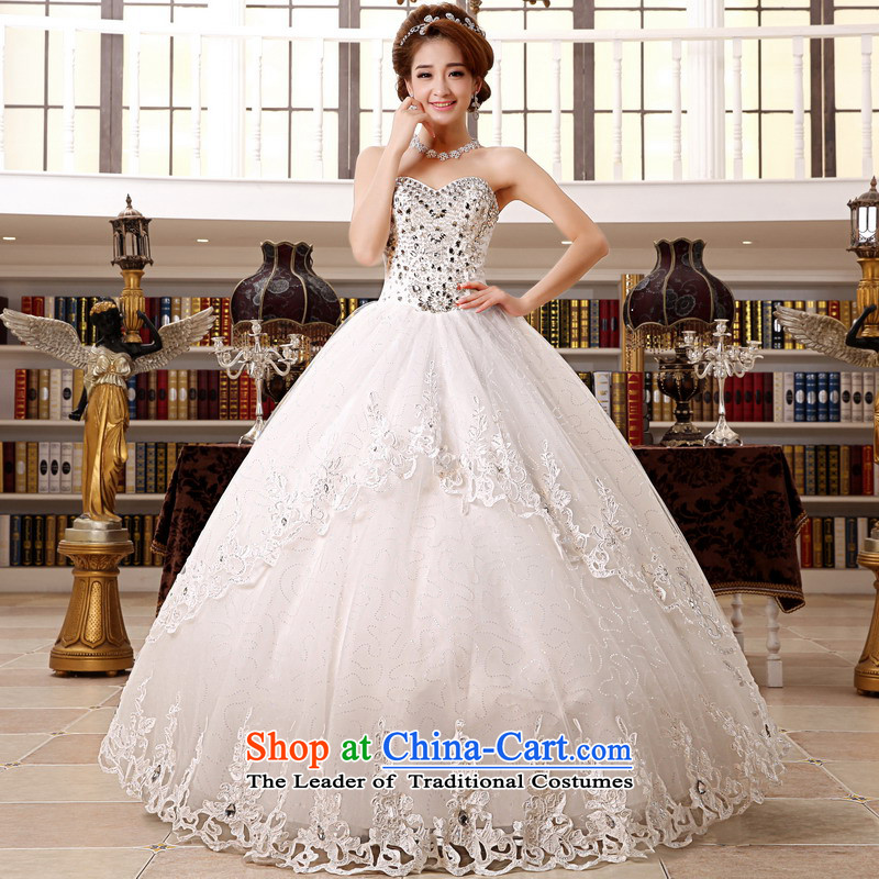 Mrs Alexa Lam Roundup Korean version of diamond ornaments with chest deluxe new 2014 bon bon skirt marriages video wedding dresses 65982 thin white聽M