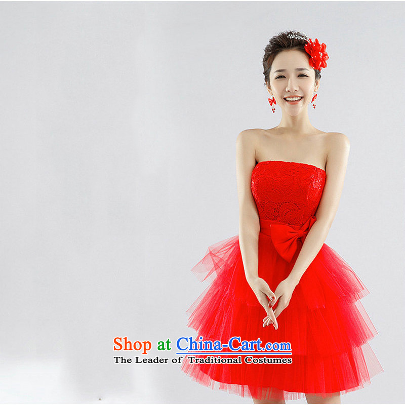 Naoji a bridesmaid dresses marriages wedding dress XS6624 RED S