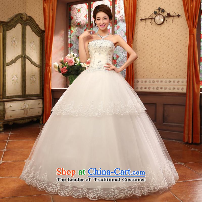 Shared Keun guijin bride wedding dress lace irrepressible small drilled saika align to bon bon, wedding hs5635 m White�XL code from Suzhou Shipment