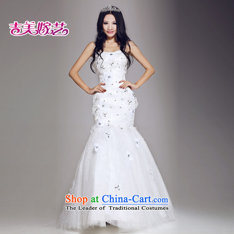 Wedding dress Kyrgyz-american married new anointed arts 2015 Chest Korean to align the Sau San HS670 bride wedding white�L