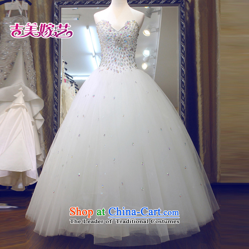 Wedding dress Kyrgyz-american married new anointed arts 2015 Chest Korean skirt to align bon bon HS743C bride wedding white S