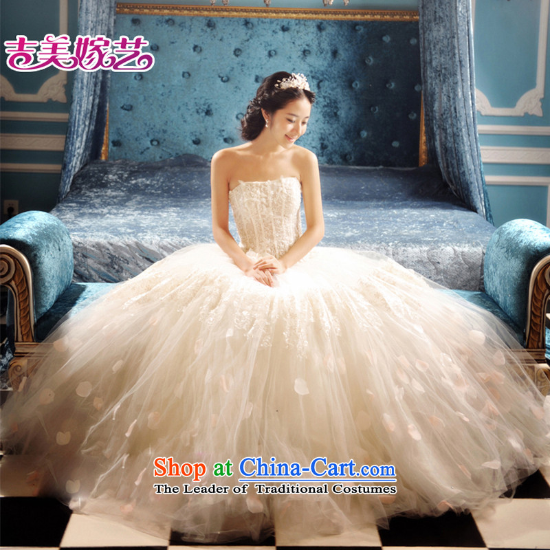 Wedding dress Kyrgyz-american married new anointed arts 2015 Chest Korean skirt HS3057 bon bon bride wedding white S