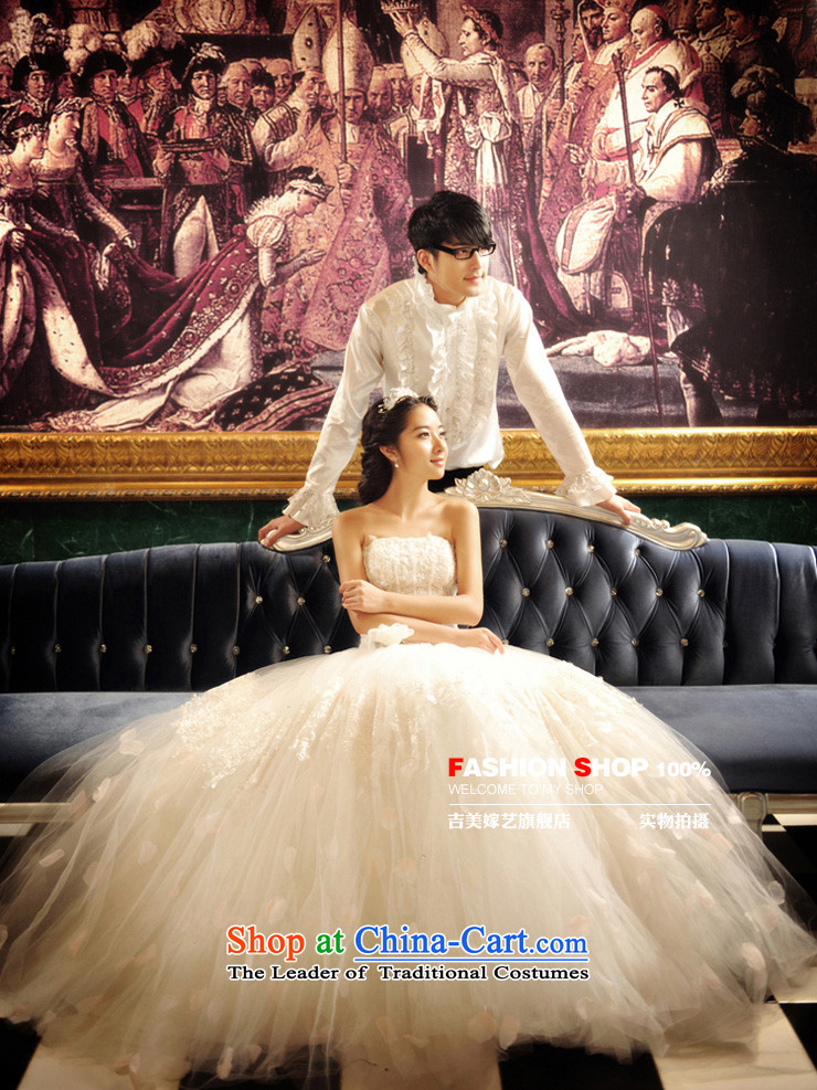Wedding dress Kyrgyz-american married new anointed arts 2015 Chest Korean skirt HS3057 bon bon bride wedding whitepicture, prices, S brand platters! The elections are supplied in the national character of distribution, so action, buy now enjoy more preferential! As soon as possible.