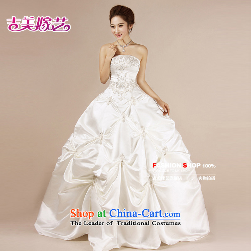 Wedding dress Kyrgyz-american married new anointed arts 2015 Chest Korean skirt HS048 Princess Bride wedding white?S