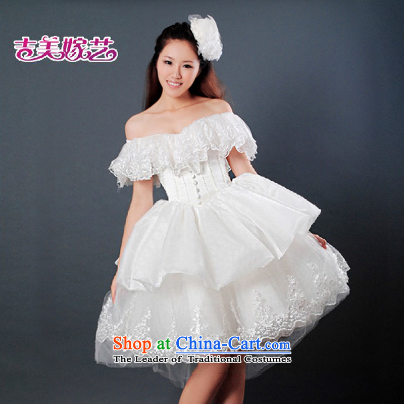 Wedding dress Kyrgyz-american married new anointed arts 2015 Chest Korean short skirt as bride HS096 wedding White�XL