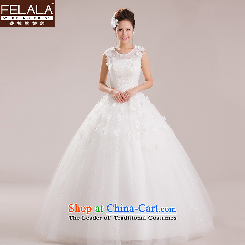 Ferrara 2015 new wedding dresses Korean marriages bon bon skirt water-soluble lace flowers out of S Suzhou Shipment