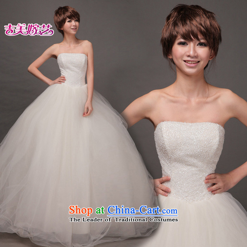 Wedding dress Kyrgyz-american married new anointed arts 2015 Chest Korean skirt HS189 bon bon bride wedding white XS