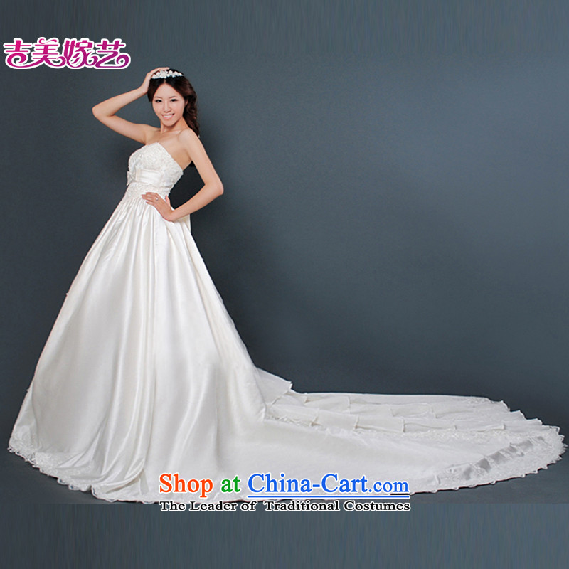 Wedding dress Kyrgyz-american married new anointed arts 2015 Chest Korean bon bon tail HT506 skirt bride wedding XXXL White
