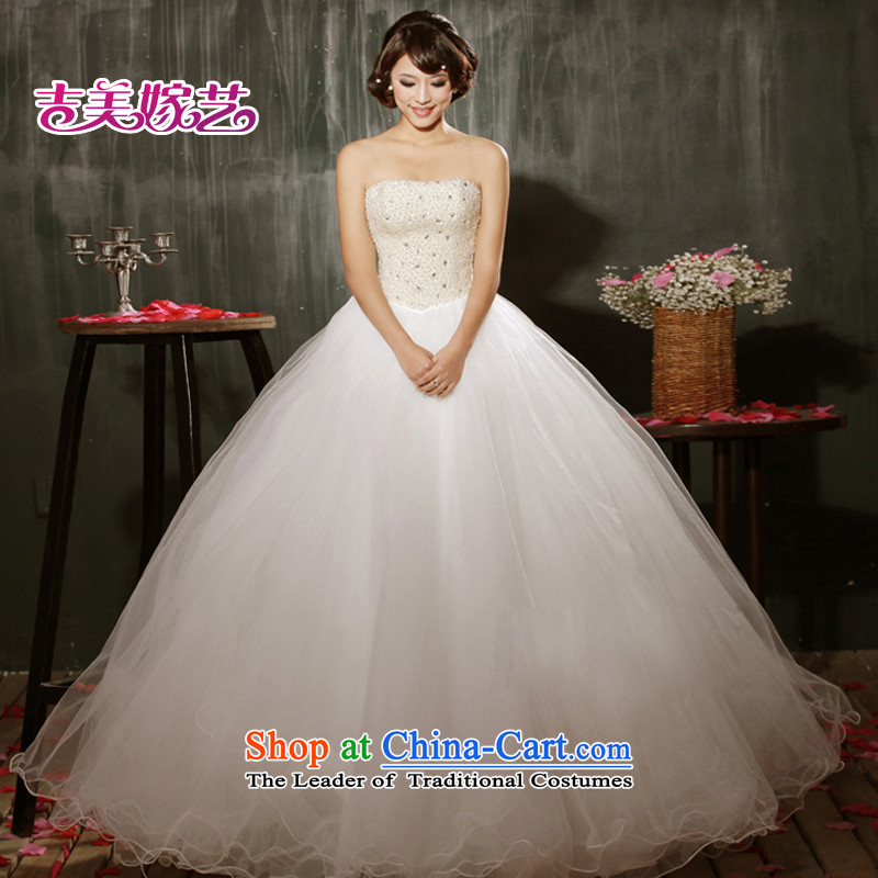 Wedding dress Kyrgyz-american married new anointed arts 2015 Chest Korean skirt HS606 bon bon bride wedding XXXL White