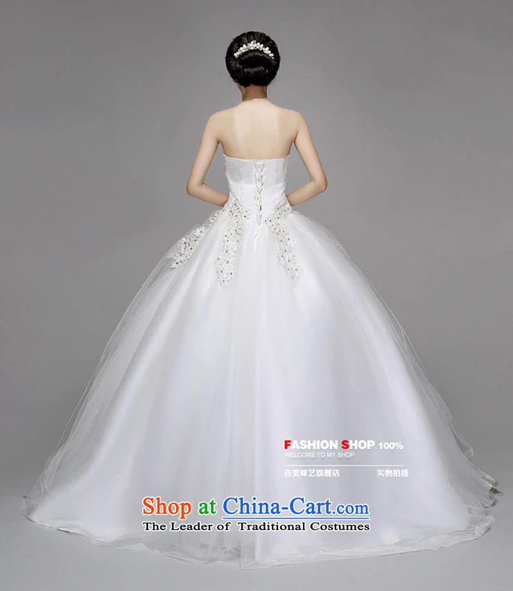Wedding dress Kyrgyz-american married new anointed arts 2015 Chest Korean skirt HS723 bon bon bride wedding pictures, price XL white, brand platters! The elections are supplied in the national character of distribution, so action, buy now enjoy more preferential! As soon as possible.