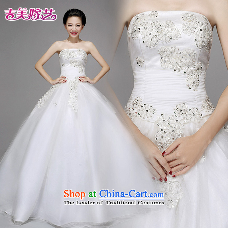 Wedding dress Kyrgyz-american married new anointed arts 2015 Chest Korean skirt HS723 bon bon bride wedding White XL