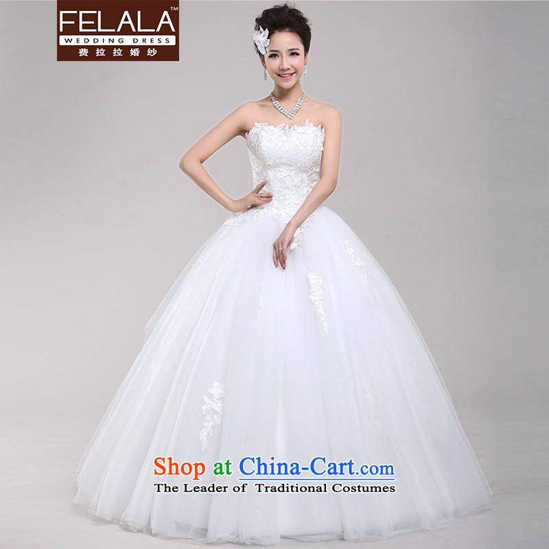 Ferrara?2015 new anointed chest wedding bride Korean Princess lace bon bon skirt Lok finalities wedding spring_?L?Suzhou Shipment