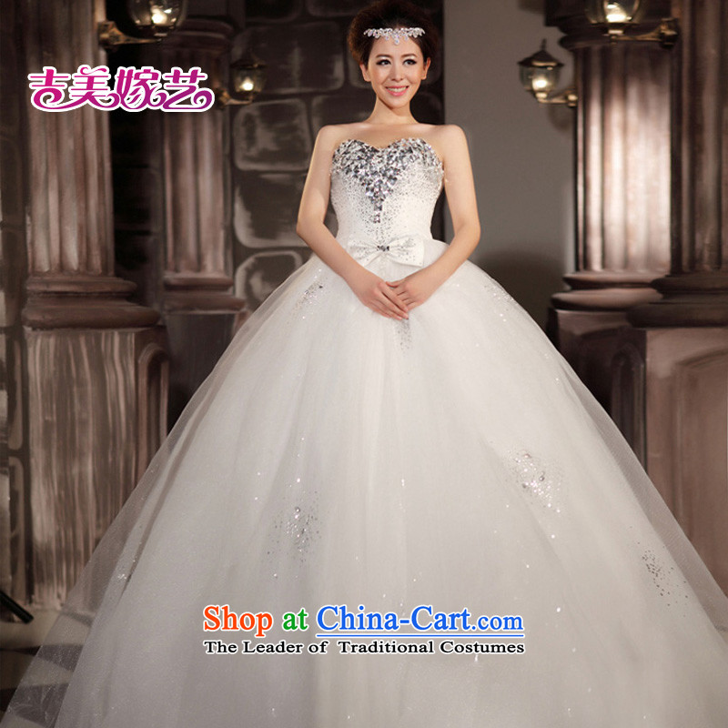 Wedding dress Kyrgyz-american married new anointed arts 2015 Chest Korean skirt HS806 bon bon bride wedding XXXL White