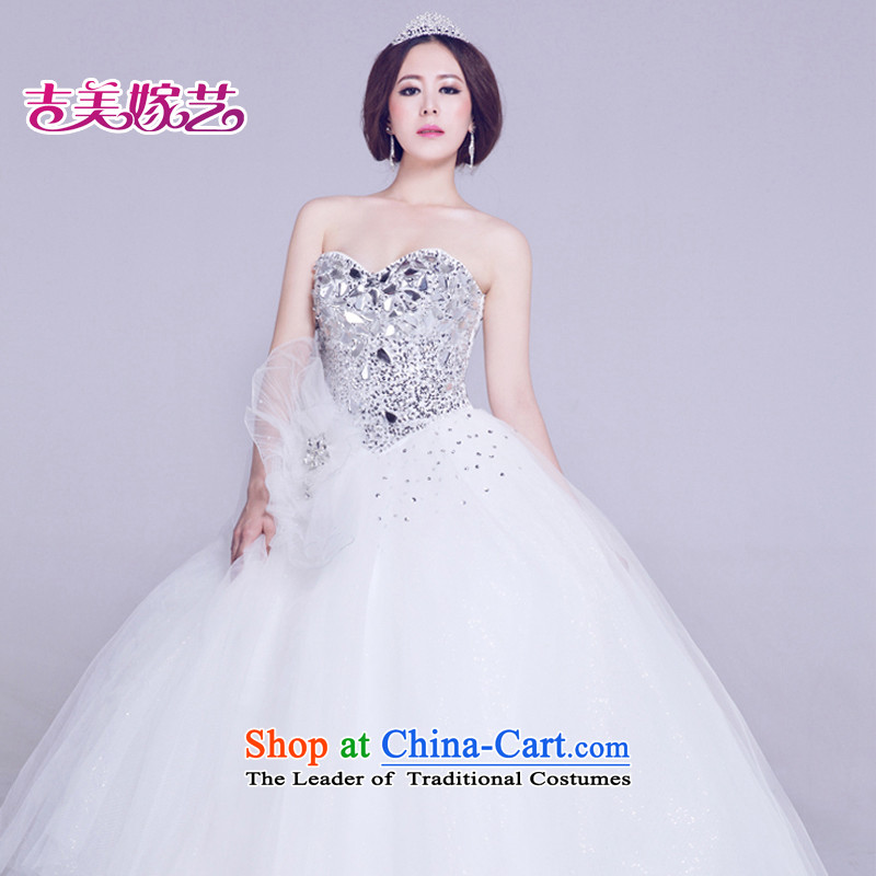 Wedding dress Kyrgyz-american married new anointed arts 2015 Chest Korean skirt HS807 bon bon bride wedding white?L