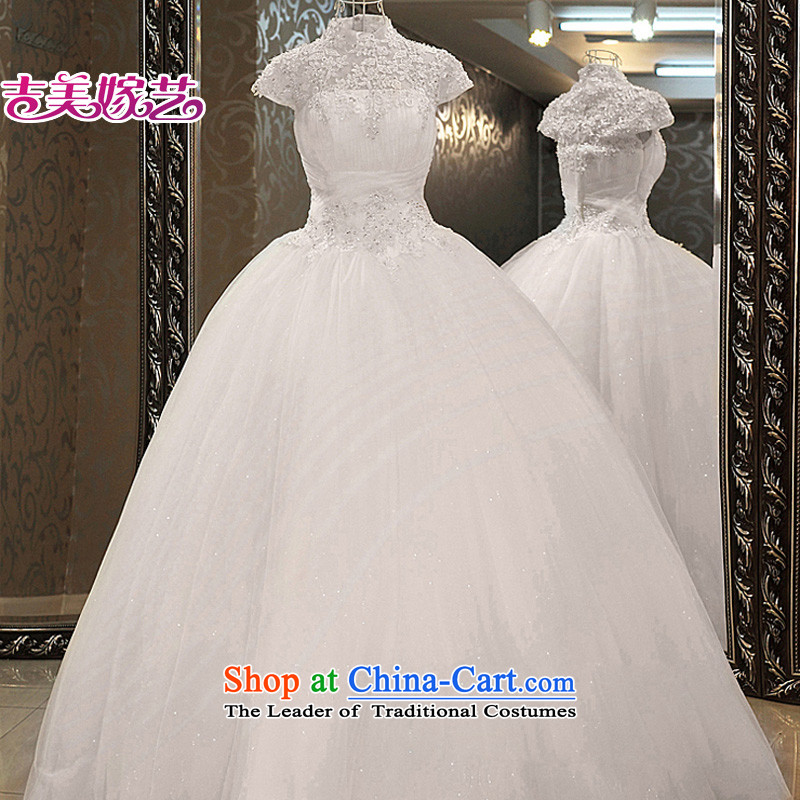 Wedding dress Kyrgyz-american married arts New Package 2015 shoulder Korean skirt HS939 bon bon bride wedding white?S