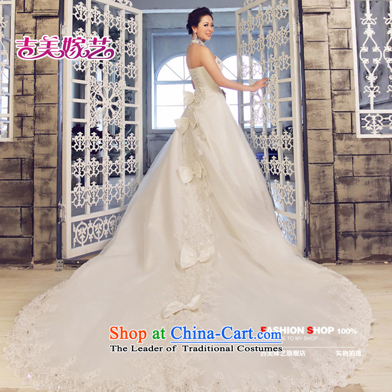 Wedding dress Kyrgyz-american married new anointed arts 2015 Chest Korean bon bon tail HT3059 skirt bride wedding White?M