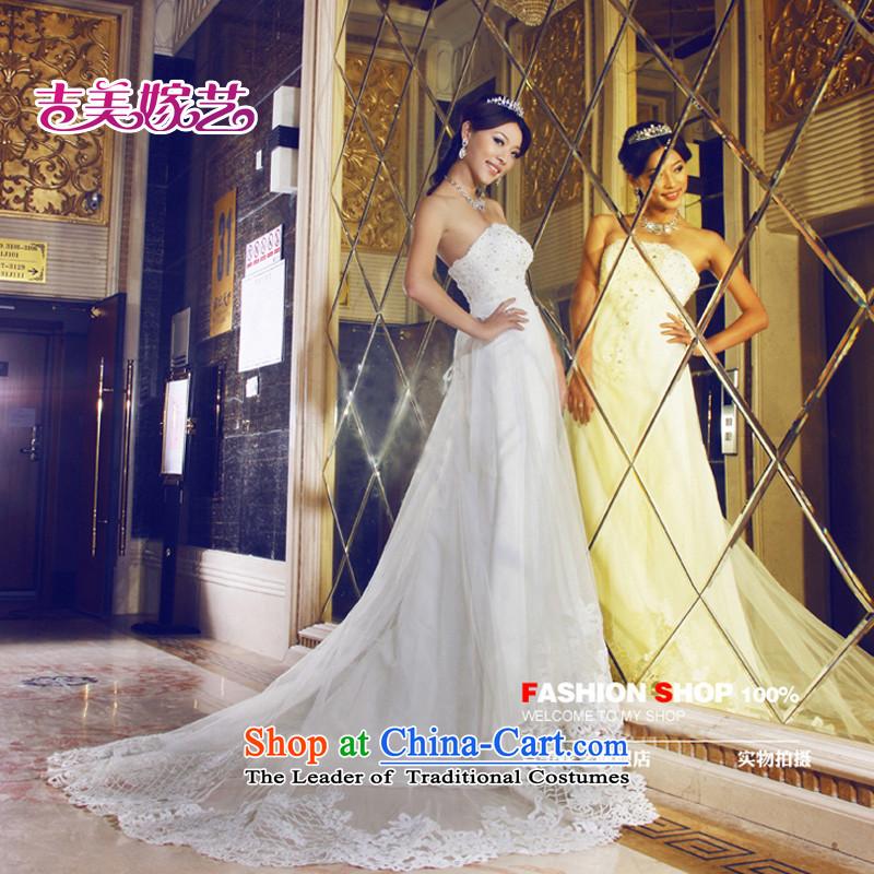 Wedding dress Kyrgyz-american married new anointed arts 2015 Chest Korean tail HS3060 bride wedding White?XL