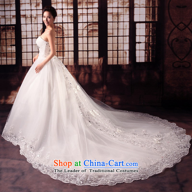 Mrs Alexa Lam roundup new 2014 Deluxe with drill length tail marriages wedding dresses and chest straps Korean style wedding 15181 Trailing White�S