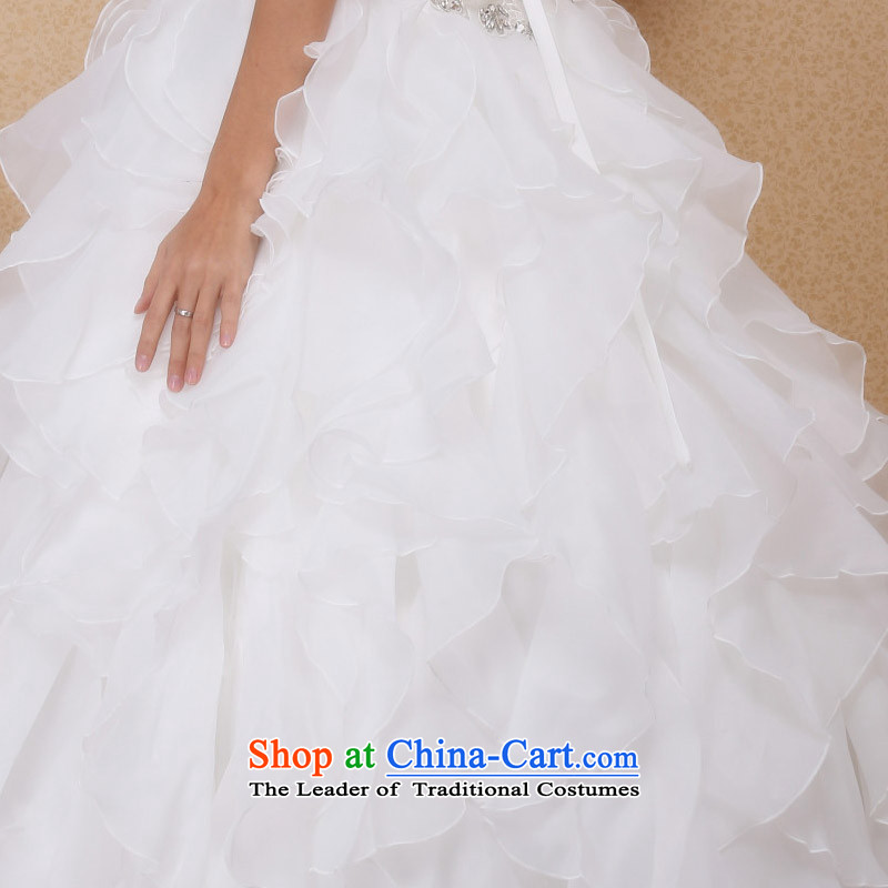 A new 2015 anointed bride chest lace wedding bon bon Princess Wedding Cake skirt 545 S, a bride shopping on the Internet has been pressed.