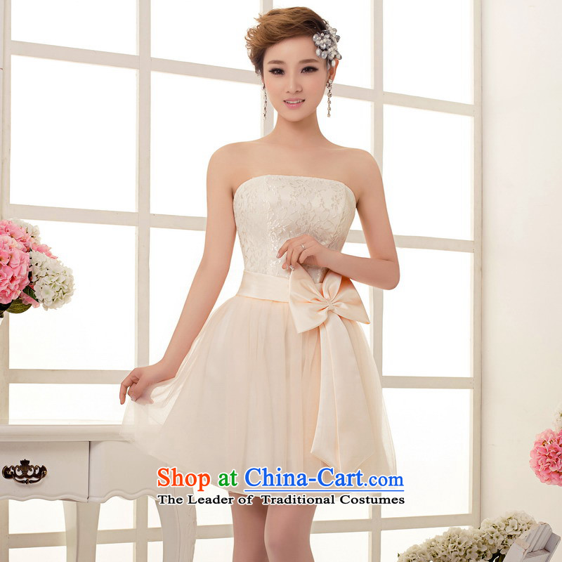 Mrs Alexa Lam roundup short of small dress bride services red short of bows and chest service with chest short bows wedding dresses, 14361 champagne color聽S