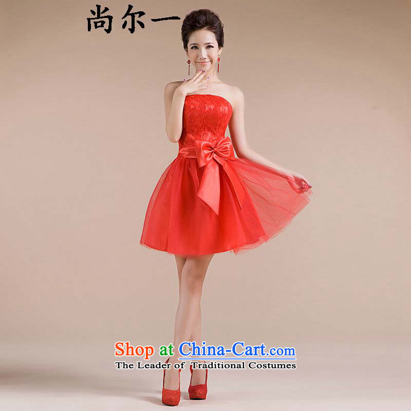 Yet, a new paragraph should be anointed chest handmade lace embroidery waist big Bow Ties are small dress bridesmaid XS6601 SERVICES RED?M