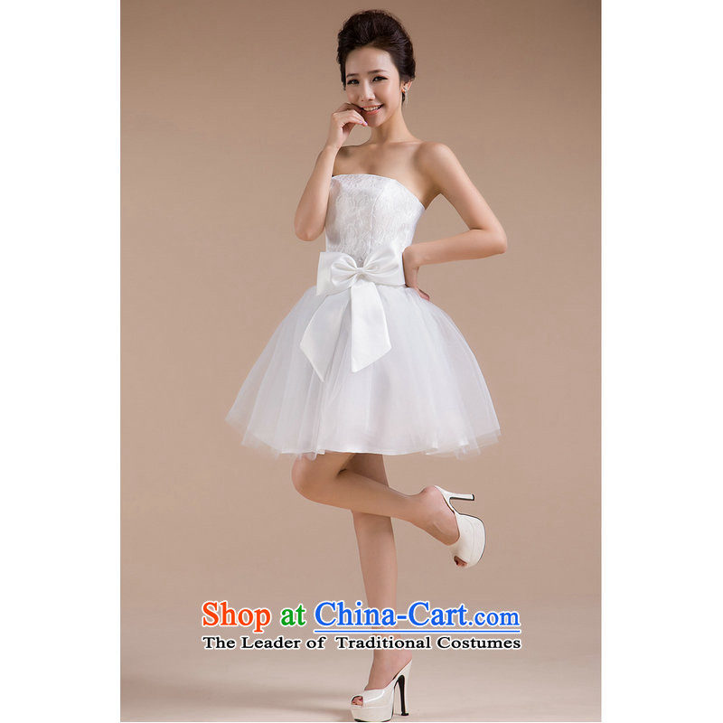 Yet, a new summer elegance small dress sexy beauty services XS6605 bows White?M