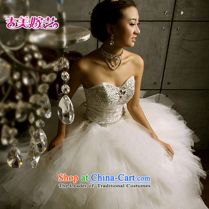 Wedding dress Kyrgyz-american married new anointed arts 2015 Chest Korean skirt HS3066 bon bon bride wedding ivory?L