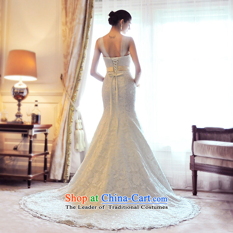 Full Chamber Fong small crowsfoot lace shoulder strap wedding dresses, spring 2015 Sau San new tail straps Bridal Services S21490 tail 165-L 60cm