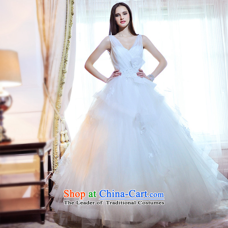 Full Chamber Fang 2015 new wedding dresses S21486 shoulder strap V-neck to align bon bon spring Korean wedding diamond align to tailor)