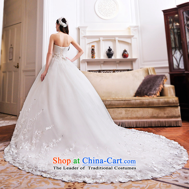 Full Chamber Fang 2015 new wedding dresses and chest bon bon skirt girdles tail lace wedding S21481 tail 165-S 100cm