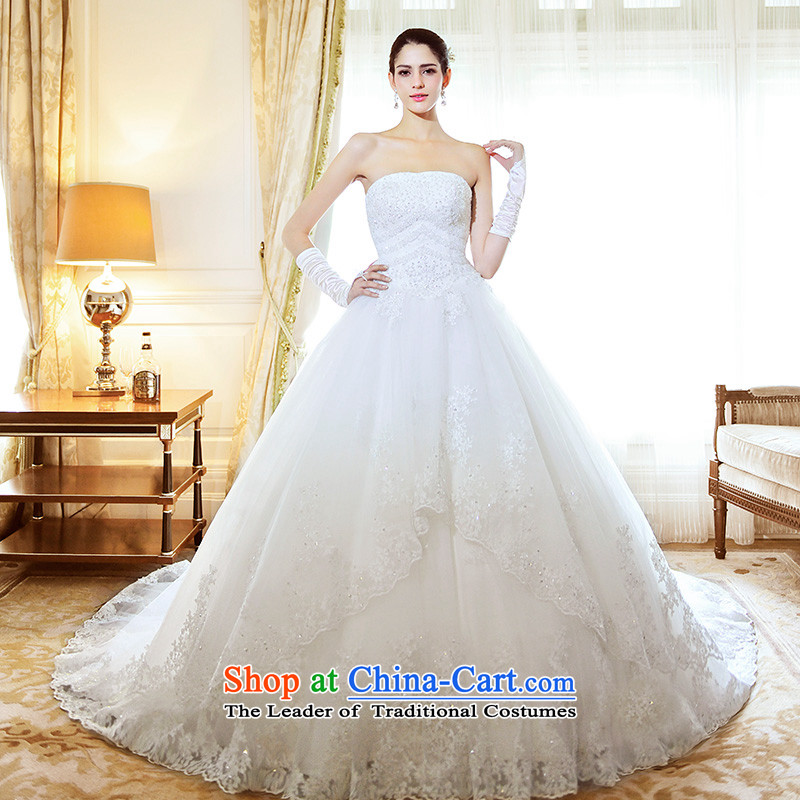 Full Chamber Fang 2015 new anointed chest bride wedding dresses lace deluxe tail s21485 wedding spring_ to align聽173-M_