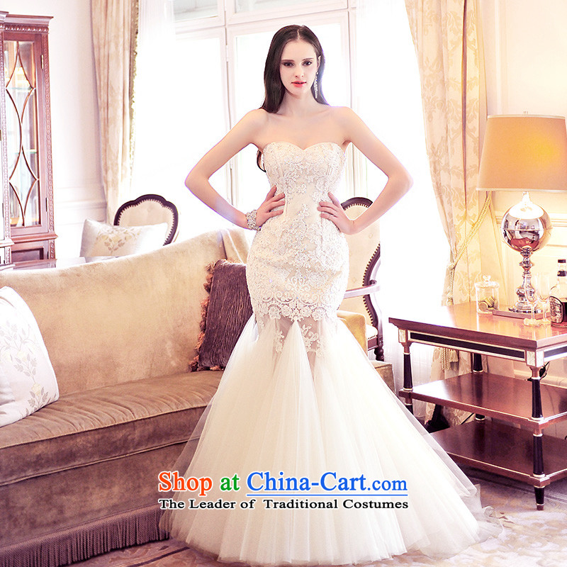Full Chamber Fang 2015 new crowsfoot anointed chest bride wedding dresses S21492 alignment to lace diamond wedding align to tailor)