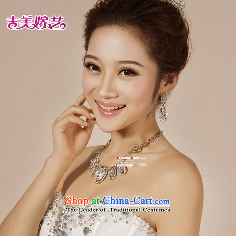 The bride wedding dresses accessories kit Korean TL0009 link water drilling jewelry 2015 new marriage necklace green Ear Clip