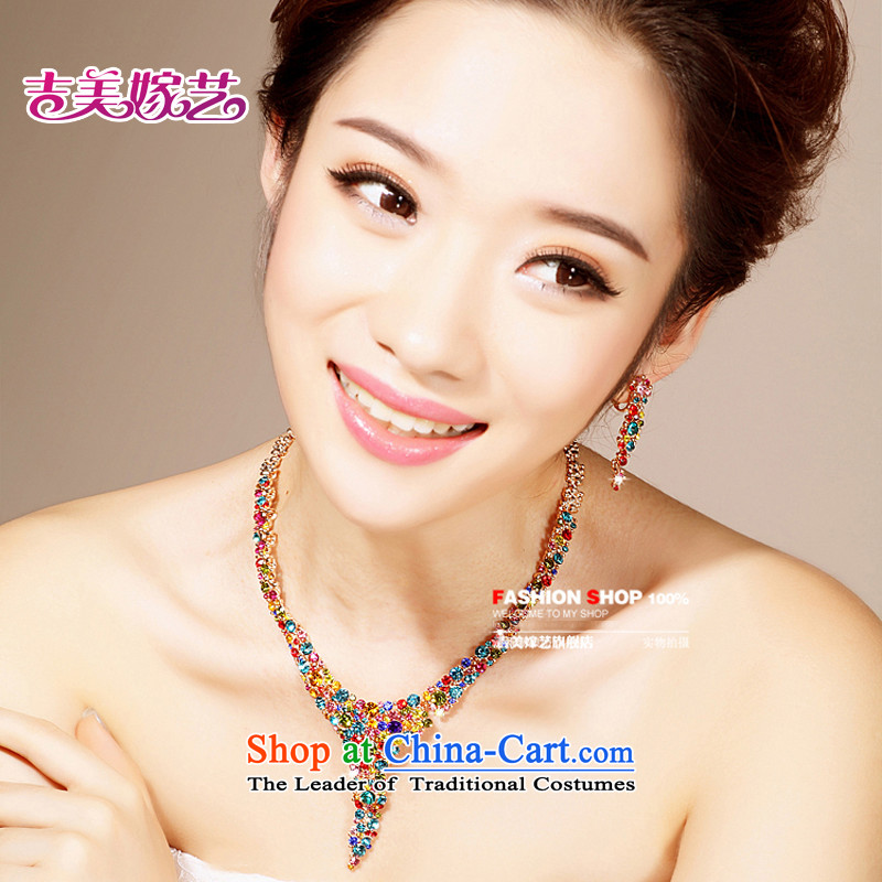 The bride wedding dresses accessories kit Korean TL0021 link water drilling jewelry 2015 new marriage necklace color Ear Clip