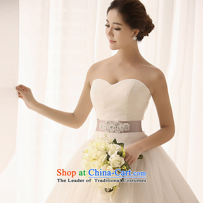 Full Chamber Fang 2015 new anointed chest wedding S1395 white bon bon-made large lace video thin wedding dresses tail 173-S 50cm
