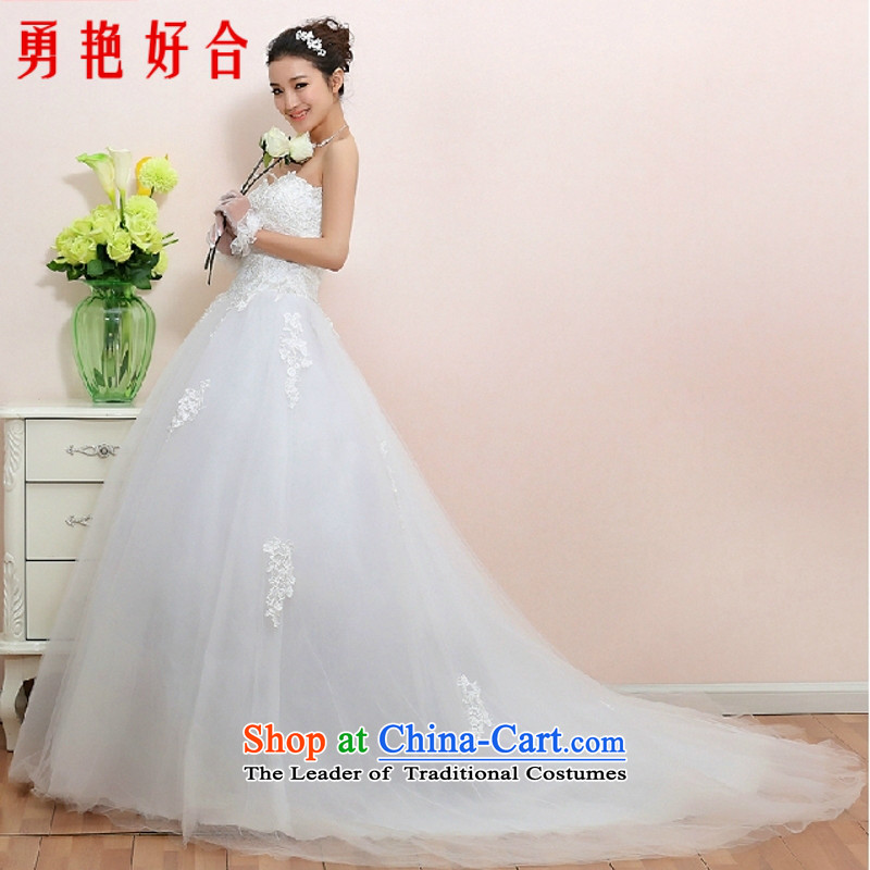 In accordance with the Jing Dong shop on Sha red wedding dresses new 2015 most stylish tail pregnant women to align marriages Top Loin of wiping the chest white streak�M