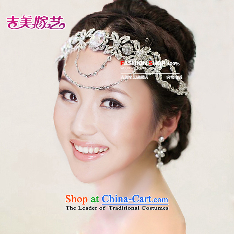 The bride wedding dresses accessories kit Korean TL3065 link water drilling jewelry 2015 new marriage necklace white Ear Clip