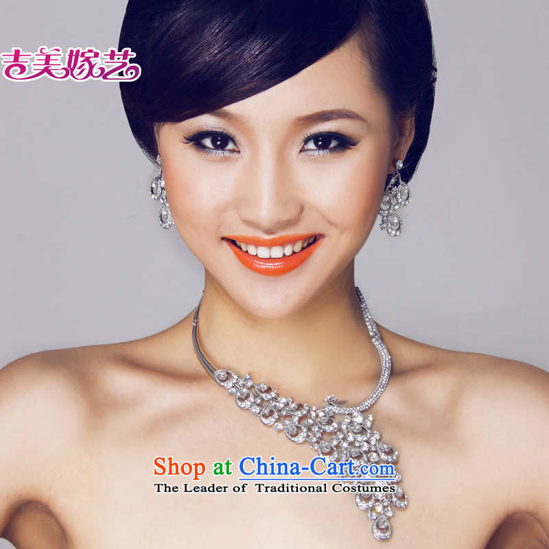 The bride wedding dresses accessories kit Korean TL6071 link water drilling jewelry 2015 new marriage necklace White ear-pin