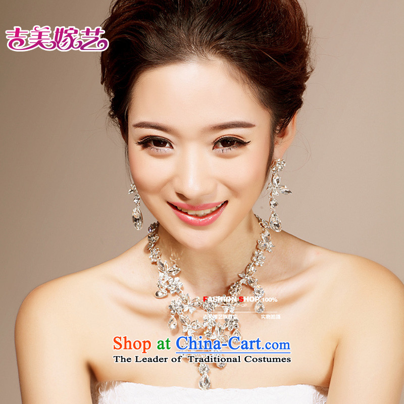 The bride wedding dresses accessories kit Korean TL6201 link water drilling jewelry 2015 new marriage necklace white Ear Clip