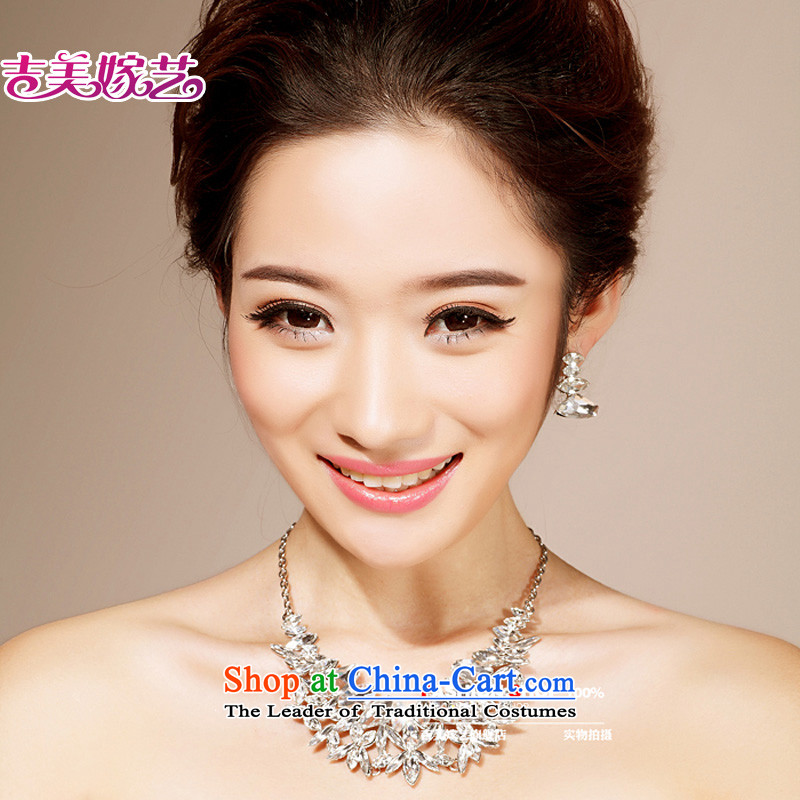 The bride wedding dresses accessories kit Korean TL6203 link water drilling jewelry 2015 new marriage necklace White ear-pin